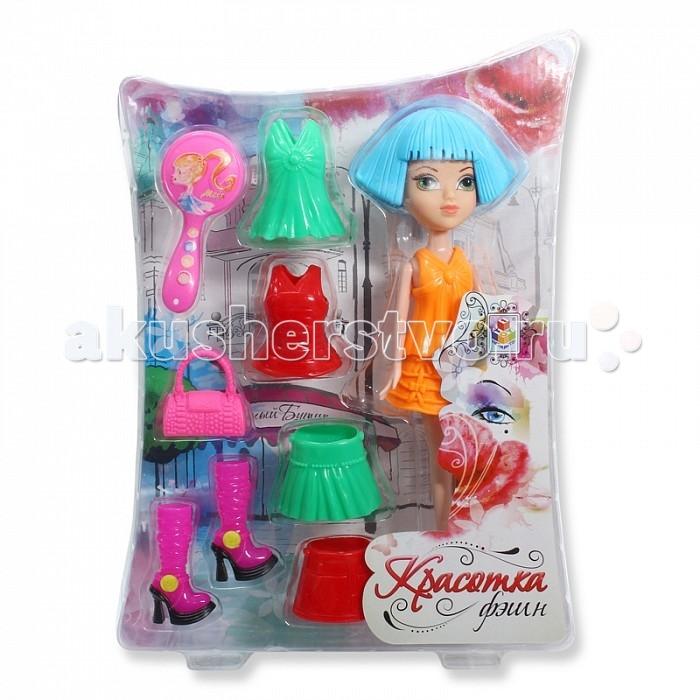 Куклы и одежда для кукол 1 Toy Красотка фэшн кукла с аксессуарами Т57128 1 toy кукольный домик красотка колокольчик с мебелью 29 деталей