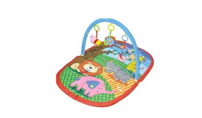 Развивающий коврик Parkfield ДжунглиДжунглиРазвивающий коврик Parkfield Джунгли со съемной дугой станет первой площадкой для игры Вашего малыша. Обилие ярких цветов, различных форм, использование материалов разной фактуры, будут помогать ребёнку развиваться, проводя часы в веселых и забавных играх.<br>