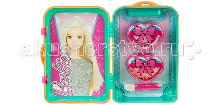 Markwins Набор детской декоративной косметики Barbie в зеленом чемоданчике