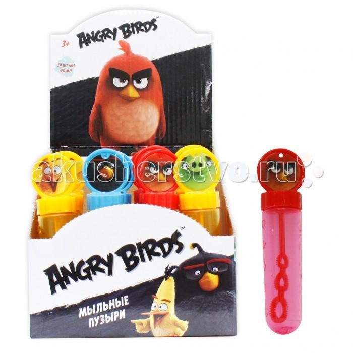 Мыльные пузыри 1 Toy Мыльные пузыри Angry Birds колба с кругом на крышке 40 мл мыльные пузыри 1 toy мыльные пузыри angry birds колба 90 мл