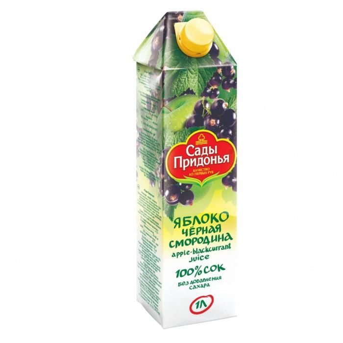 Соки и напитки Сады Придонья Сок Яблоко-черная смородина 1 л добрый сок яблоко персик 0 2 л