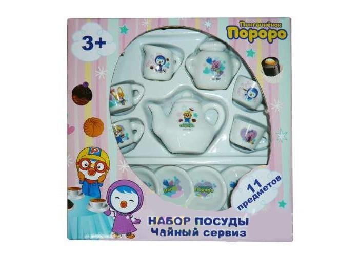 Ролевые игры 1 Toy Чайный сервиз Пингвиненок Пороро 11 предметов сервиз чайный loraine на подставке 13 предметов 43285