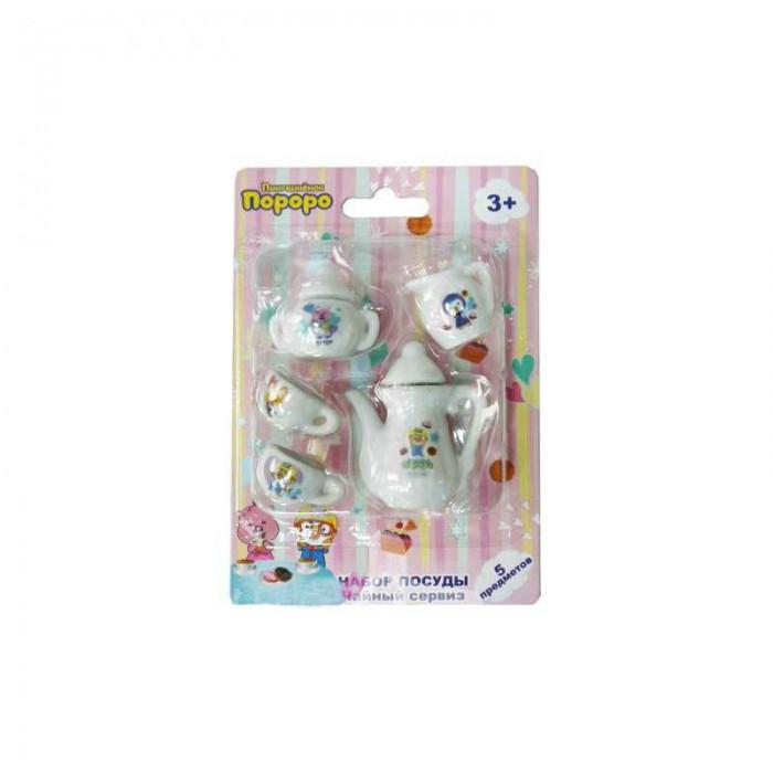 Ролевые игры 1 Toy Чайный сервиз Пингвиненок Пороро 5 предметов набор посуды игрушечный 1 toy чайный сервиз