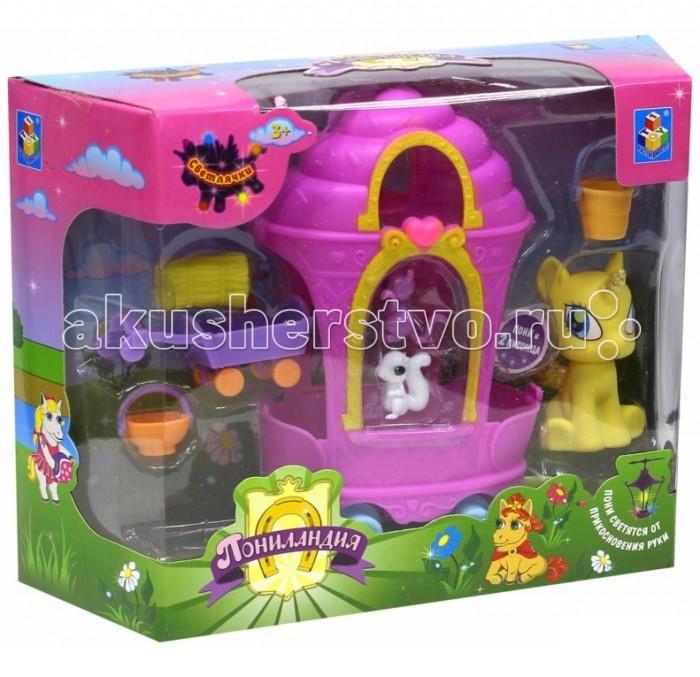 Игровые наборы 1 Toy Игровой набор Пониландия Светлячки Пони с повозкой игровые наборы tomy игровой набор приключения трактора джонни и лошади на ферме