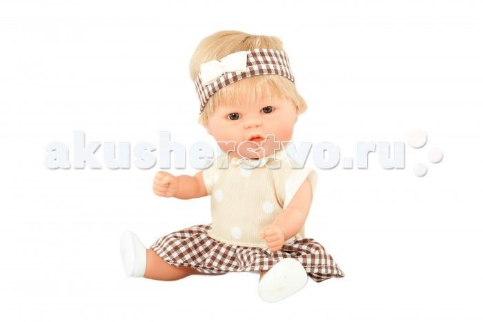 Dnenes/Carmen Gonzalez Кукла Бебетин в платье с воланом и повязке 21 см