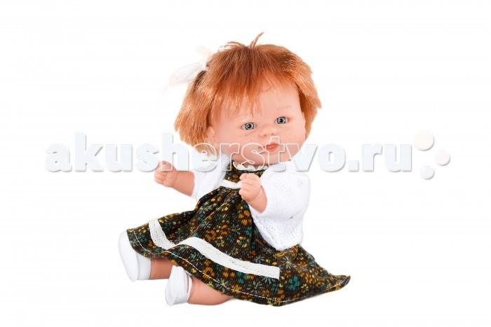 Dnenes/Carmen Gonzalez Кукла-пупс Бебетин в вельветовом платье с кофтой 21 см