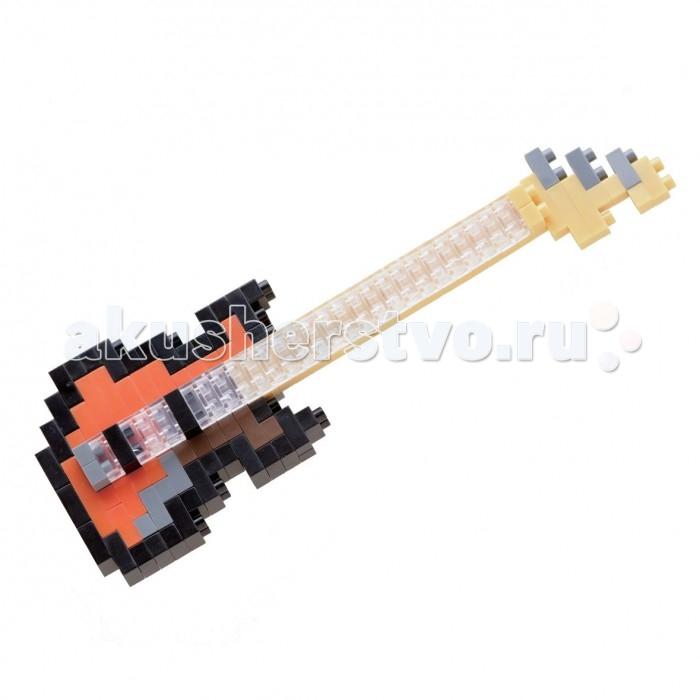 Конструкторы Nanoblock Басс-гитара 140 элементов мини конструктор nanoblock nbc 096 акустическая гитара