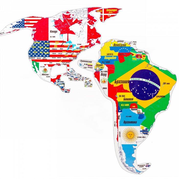 Развитие и школа , Атласы и карты Геомагнит Магнитный географический пазл Северная и Южная Америки арт: 242482 -  Атласы и карты