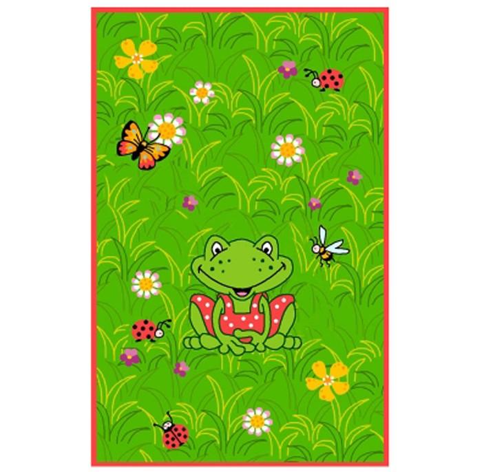 Boing Carpet Ковёр Ockar 1373Ковёр Ockar 1373Ковёр Ockar 1373 с ярким лягушонком на фоне сочного луга поможет создать приятную атмосферу в любой комнате и будет напоминать о лете.  Мягкий и теплый ковёр неприхотлив в эксплуатации.  В состав волокон, используемых при его производстве входит Хитозан - вещество 100% натурального происхождения, обладающее антибактериальным свойством и нейтрализующее запахи.  Высота ворса составляет 10 мм.<br>