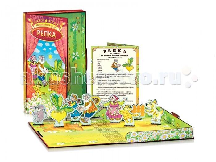 Деревянные игрушки Полноцвет Настольный театр-сказка Репка 162370 комплект из двух книг айрис репка теремок волшебный театр 3