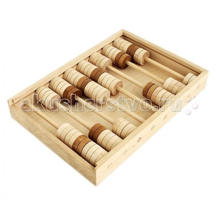 Деревянные игрушки Теремок Счеты детские сборные деревянные игрушки теремок кубики веселый счет 12 шт