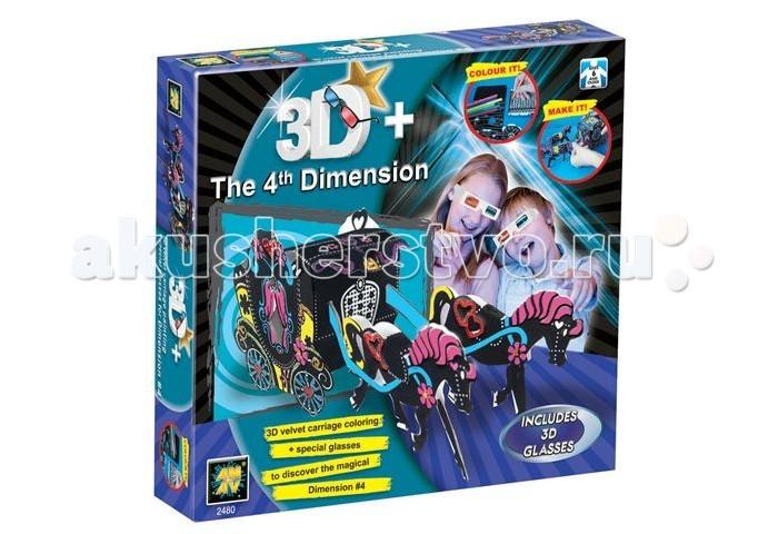 Конструкторы AMAV (Diamant) Набор Карета из бархата 3D заготовки под роспись amav diamant набор разрисуй попугая 3d