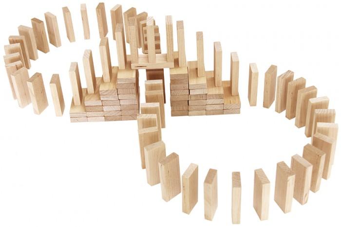 Деревянные игрушки Теремок Эффект домино 112 элементов деревянные игрушки теремок геометрические весы