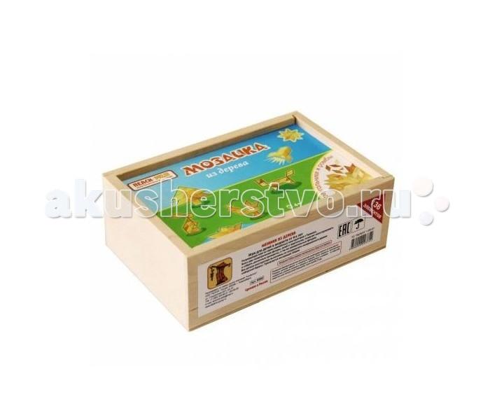 Деревянные игрушки Теремок Мозаика паркетная 136 элементов мозаика спектр игра мозаика у602