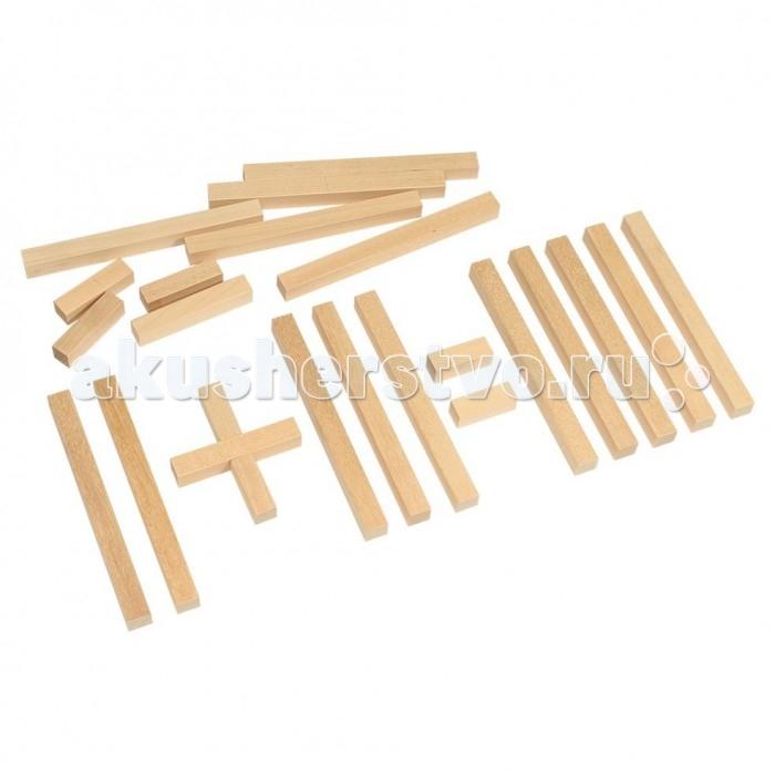 Деревянные игрушки Теремок Счетные палочки 18 шт. деревянные игрушки теремок кубики веселый счет 12 шт