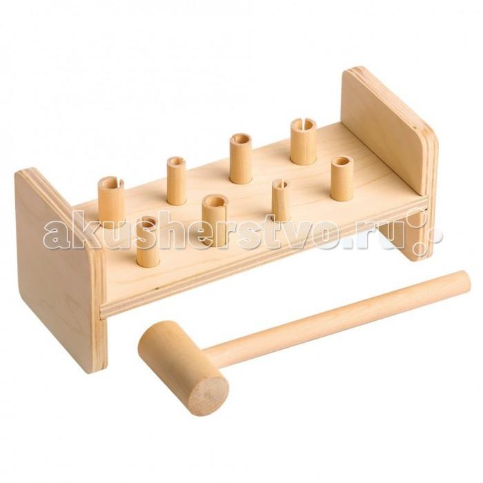Деревянные игрушки Теремок Гвозди-перевертыши деревянные игрушки теремок кубики веселый счет 12 шт