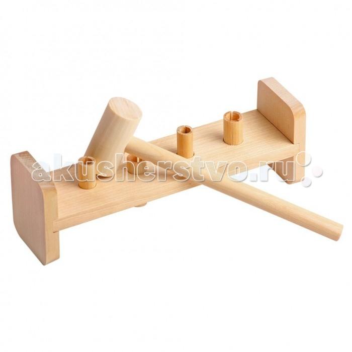 Деревянные игрушки Теремок Гвозди-перевертыши 4 гвоздика развивающие деревянные игрушки пазл для малышей теремок 4 в 1
