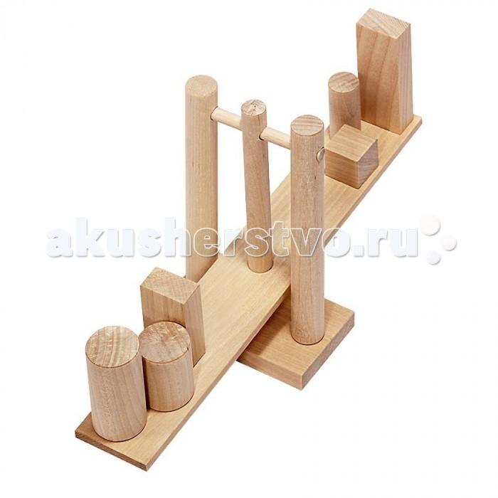 Деревянные игрушки Теремок Геометрические весы деревянные игрушки теремок гвозди перевертыши 4 гвоздика
