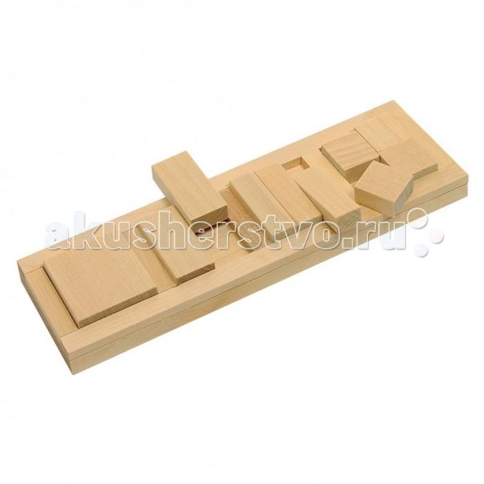 Деревянные игрушки Теремок Пазлы Дроби-квадрат деревянные игрушки теремок пирамидка квадрат
