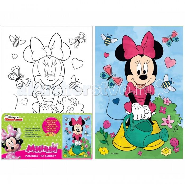 Раскраски Disney Принцессы Роспись по холсту Минни фломастеры disney минни 24 цвета