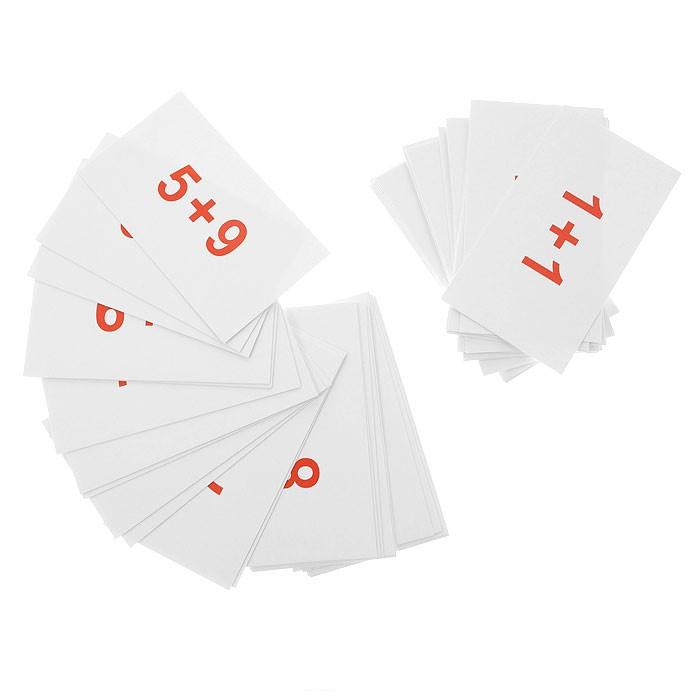 Раннее развитие Вундеркинд с пелёнок Набор обучающих карточек Сложение 45 шт.