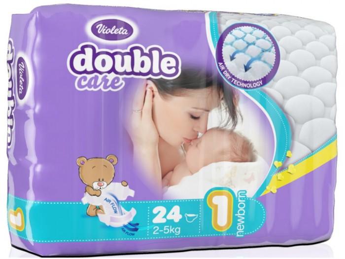 Подгузники Violeta Подгузники размер 1 Newborn (2-5 кг) 24 шт.