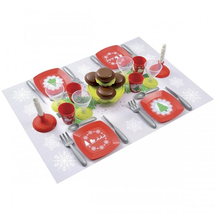 Ролевые игры Ecoiffier Набор посудки С Новым Годом 24 предмета игровые наборы ecoiffier игровой набор вафельница 22 предмета