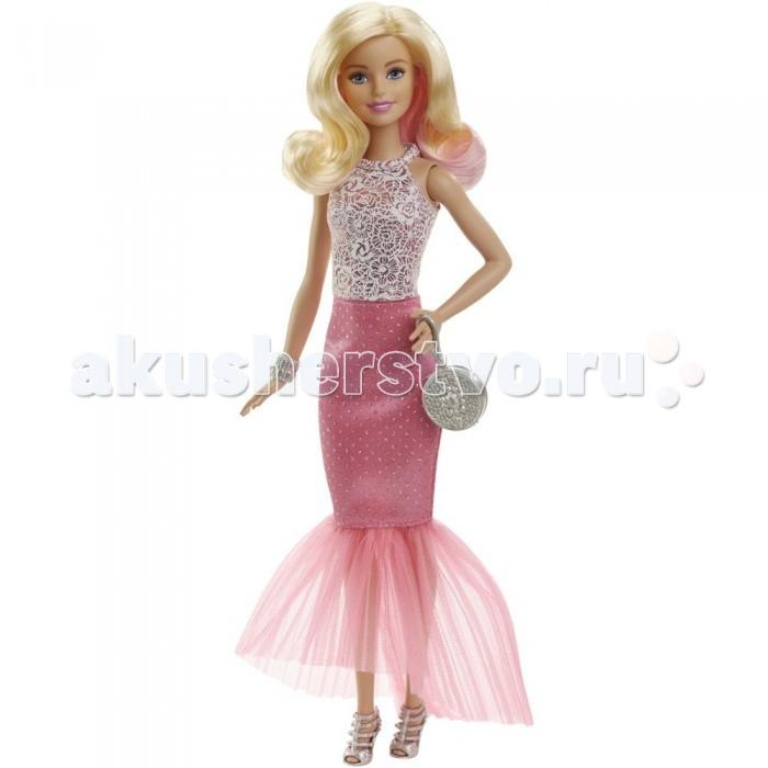 Куклы и одежда для кукол Barbie Кукла Барби блондинка в вечернем платье кукла barbie городской блеск длинные светлые волосы черная куртка