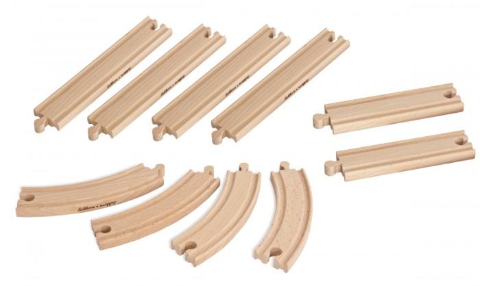 Железные дороги Eichhorn Набор элементов деревянной железной дороги 10 деталей эксмо дети железной дороги эдит несбит