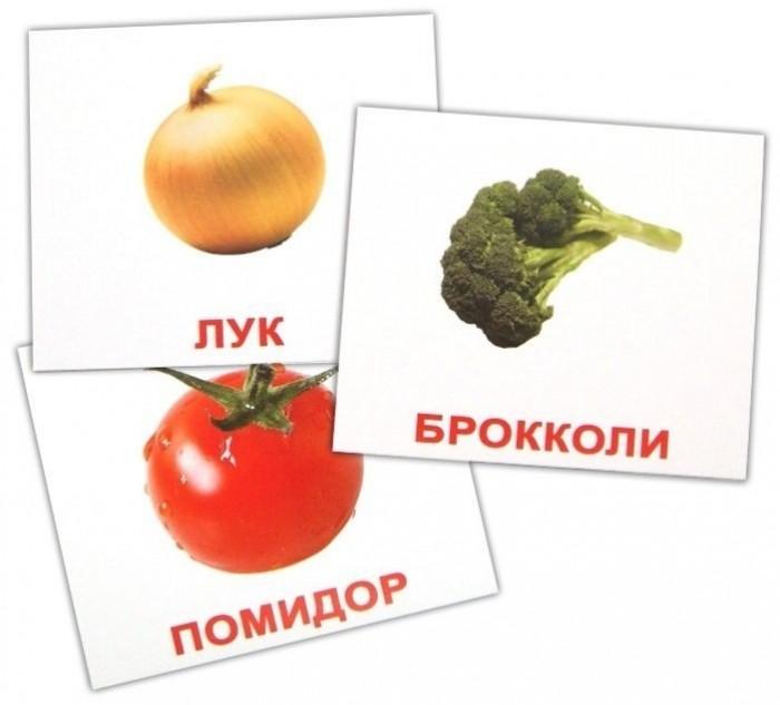 Раннее развитие Вундеркинд с пелёнок Обучающие мини-карточки Овощи 20 шт. раннее развитие вундеркинд с пелёнок набор обучающих мини карточек посуда 20 шт