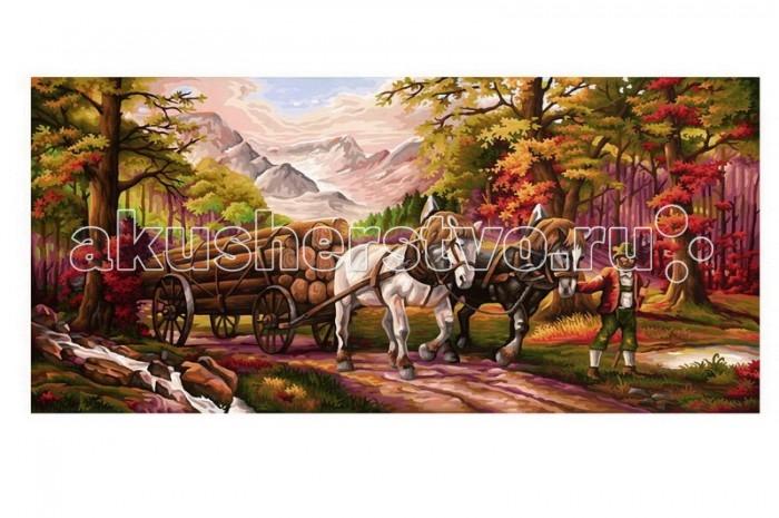 Творчество и хобби , Раскраски Schipper Повозка 40х80 см арт: 244519 -  Раскраски