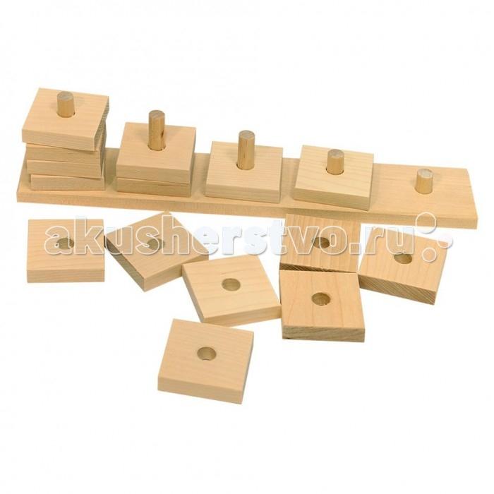 Деревянные игрушки Теремок Пирамидка Считалка деревянные игрушки теремок пирамидка квадрат