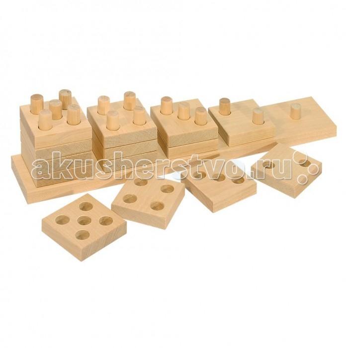 Деревянные игрушки Теремок Пирамидка счетная Домино деревянные игрушки теремок пирамидка квадрат