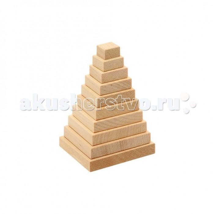 Деревянные игрушки Теремок Пирамидка Квадрат деревянные игрушки теремок кубики веселый счет 12 шт