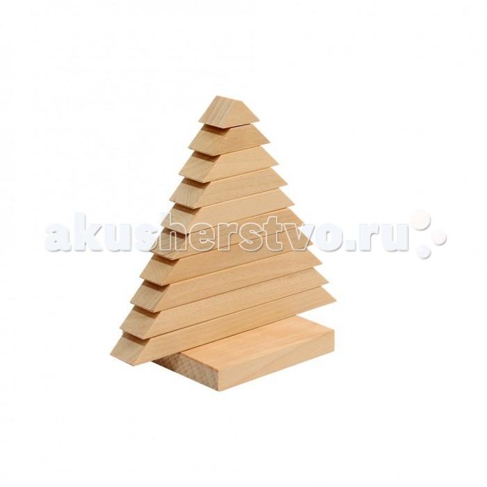 Деревянные игрушки Теремок Пирамидка Елочка деревянные игрушки теремок кубики веселый счет 12 шт