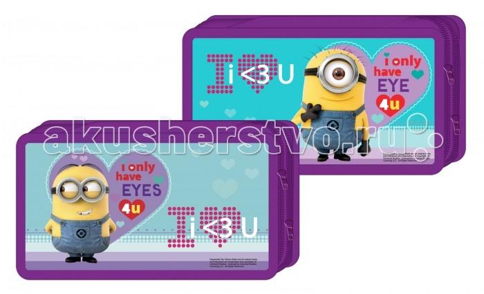 Пеналы Universal Studios Пенал 2-секционный картонный Гадкий Я Love