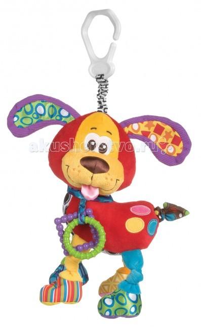 Подвесные игрушки Playgro Щенок 0181200 погремушка щенок