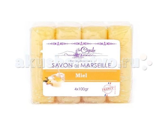 Косметика для мамы La Cigale Мыло марсельское Мед 4 шт. по 100 г как фермеру быстро продать мед