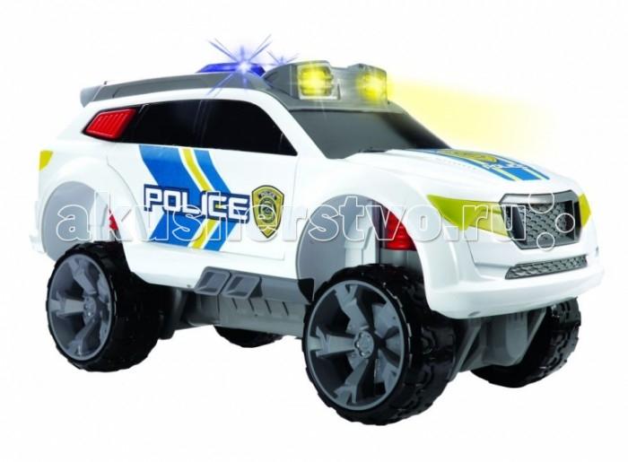 Dickie Полицейский джип свободный ход свет звук 32 смПолицейский джип свободный ход свет звук 32 смDickie Полицейский джип свободный ход свет звук 32 см 3308355  Модель полицейского джипа обладает прекрасным функционалом. Фары и мигалки машинки горят и, кроме того, она оборудована звуковым модулем. Одно из достоинств модели — функция подъема корпуса. Чтобы ее активировать, нужно нажать большую красную кнопку на крыше авто. Благодаря этой возможности, перехватчик может проходить даже самые труднодоступные места. Опустить корпус в исходное положение очень легко — ребенку будет достаточно лишь надавить на автомобиль сверху. Дизайн модели эргономичен и хорошо продуман.  Длина машинки: 32 см.<br>