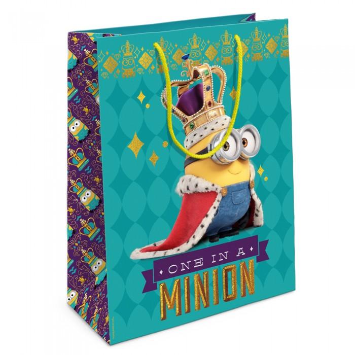 Товары для праздника Olala Пакет подарочный Миньон-король 350 х 250 х 90 см товары для праздника olala пакет для подарков барби