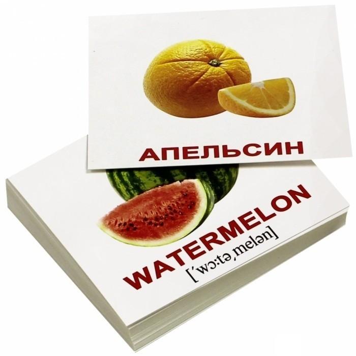 Раннее развитие Вундеркинд с пелёнок Набор обучающих карточек Мини-фрукты 40 шт. вундеркинд с пелёнок развивающее лото животные