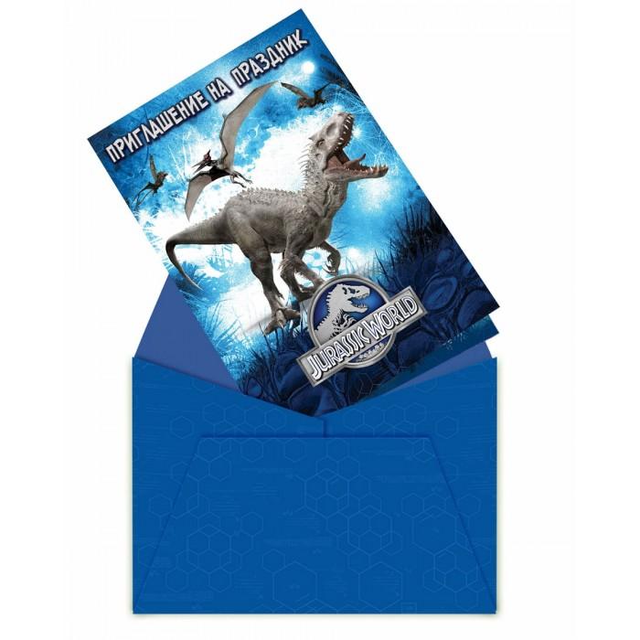 Товары для праздника Olala Приглашение в конверте Парк Юрского периода товары для праздника olala пакет подарочный миньон король 350 х 250 х 90 см