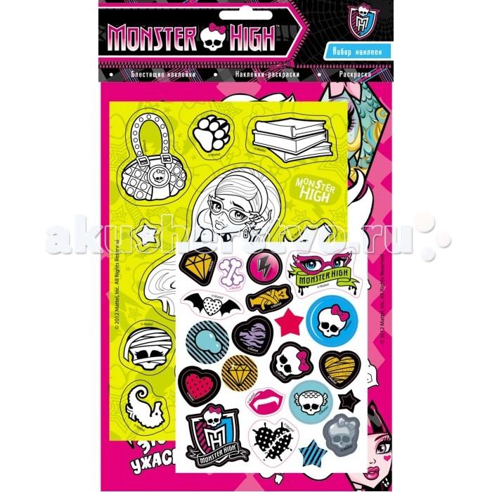 Детские наклейки Монстер Хай (Monster High) Набор наклеек 21094 куклы и одежда для кукол монстер хай monster high кукла шапито jinafire long из серии
