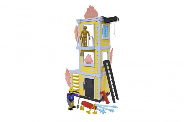 Simba Пожарный Сэм Большая тренировочная база с фигуркой и аксессуарами 42 смПожарный Сэм Большая тренировочная база с фигуркой и аксессуарами 42 смSimba Пожарный Сэм Большая тренировочная база с фигуркой и аксессуарами 42 см 9257652  Большая тренировочная база с фигуркой от компании Simba - это невероятный игровой набор из серии Пожарный Сэм, который создавали основываясь на знаменитом мультсериале, который смотрят и любят дети по всему миру. Суть игры в том, чтобы, используя фигурку пожарного Сэма, потушить все очаги возгорания и спасти манекен, который находится на самом верху пламенеющего здания.  Высота здания: 42 см.<br>