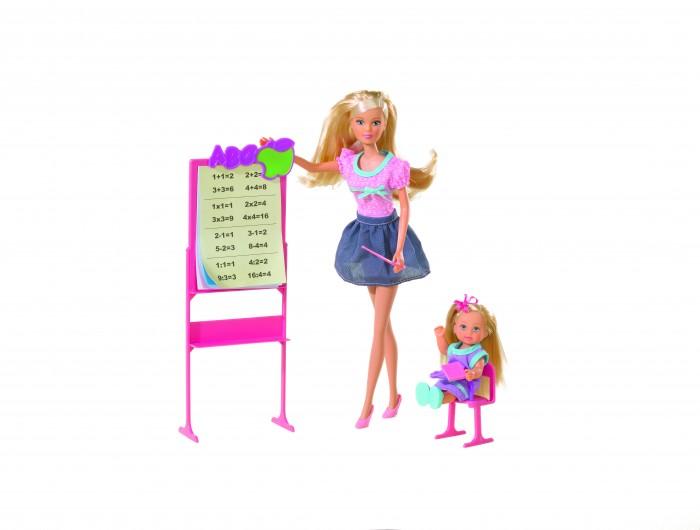 Куклы и одежда для кукол Simba Игровой набор Штеффи и Еви Школа куклы и одежда для кукол simba кукла штеффи детский доктор