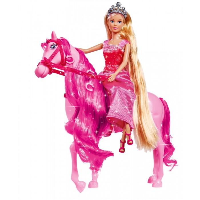 Simba Кукла Штеффи супер длинные волосы с лошадкой