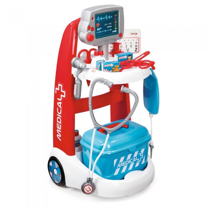 Ролевые игры Smoby Электронная медицинская тележка аксессуары для детей