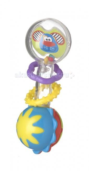 Погремушки Playgro Веселые зверята 4182022 луч трафарет прорезной веселые зверята цвет желтый