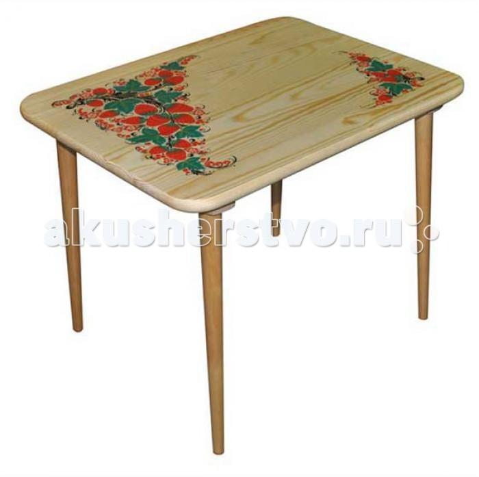 все цены на Столы и стулья Хохлома Стол малый с холодной росписью из массива в интернете