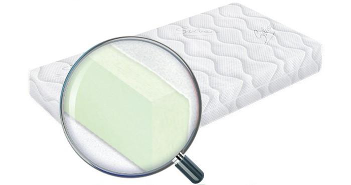 Матрас BoomBaby Silver Nature 60х120х14 смSilver Nature 60х120х14 смBoomBaby Матрас Silver Nature 60х120х14 см  100% натуральные эвкалиптовые волокна! Современный смесовый инновационный материал из волокон натурального эвкалипта и нетканого материала Hollcon, сохраняющий природные свойства эвкалипта.  Наполнитель обладает такими великолепными свойствами, как превосходные воздухо- и влагообмен, не впитывает запахи и пыль, обладает мощным антибактериальным эффектом благодаря цинеолу - природному антисептику, содержащемуся в волокнах и существенно подавляющему рост и размножение патогенных бактерий, гипоаллергенный (подходит детям, страдающим аллергией и астмой).  Также волокна эвкалипта придают изделиям особую мягкость и шелковистость, нейтрализуют статическое электричество, создавая дополнительный комфорт во время сна.  Прекрасный выбор для родителей, которые заботятся о своем малыше и окружающей его среде.  Silver Покрытие из ткани с содержанием волокон серебра.  Обладает уникальным свойством высвобождения ионов серебра для обеспечения антибактериального эффекта и создания защитного барьера вокруг Вашего малыша.   Характеристики Основа - эвкалиптовые волокна. Размер 120 х 60 (в кроватку). Съемный чехол на молнии - стеганый трикотаж. Степень жесткости - 2 (умеренно мягкий).<br>